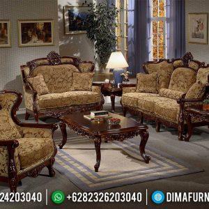 Set Sofa Tamu Mewah Ukiran Jepara Natural Jati Glossy TTJ-0519