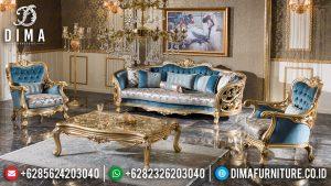 Set Sofa Ukiran Mewah Jepara Golden Sunrise Duco Color TTJ-0570