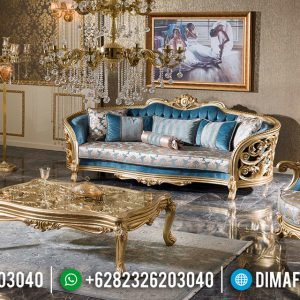 Set Sofa Ukiran Mewah Jepara Golden Sunrise Duco Color TTJ-0570