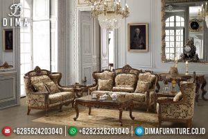 Sofa Tamu Jepara Luxury Classic Natural Jati Ukiran Mewah TTJ-0558