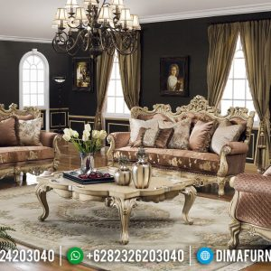Sofa Tamu Mewah Romanian Royals Classic Carving Luxury TTJ-0523