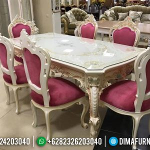 Best Sale Meja Makan Modern Ukiran Jepara Luxury Classic Furniture TTJ-0617