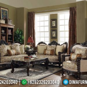 Davinci Style Kursi Sofa Tamu Mewah Luxury Carving Carlotta Furniture Indoesia TTJ-0642