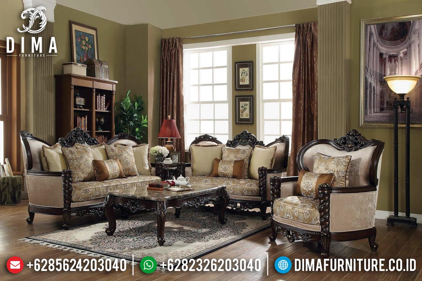 Davinci Style Kursi Sofa Tamu Mewah Luxury Carving Carlotta Furniture Indoesia TTJ-0642