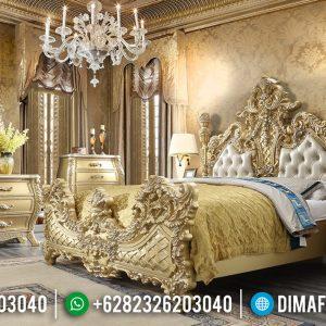 Desain Kamar Set Mewah Luxury Classic Barocco Italian Carving Golden Gloss Duco TTJ-0622