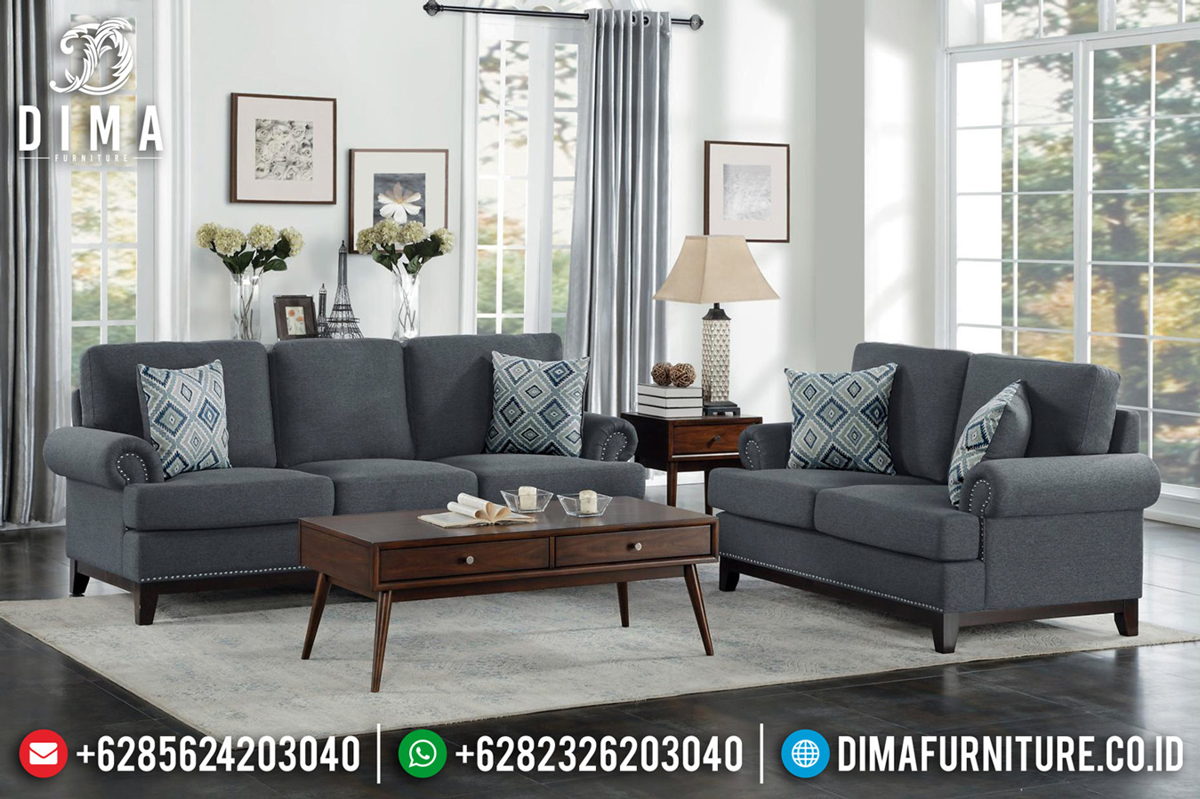 Desain Ruang Tamu Kekinian New Sofa Tamu Minimalis Classic Retro French Style TTJ-0635