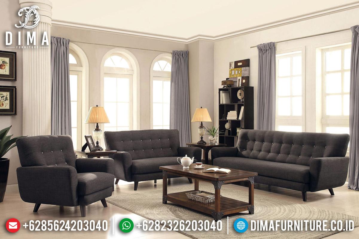 Desain Ruang Tamu Sofa Tamu Minimalis Klasik Jati Natural New 2020 TTJ-0603