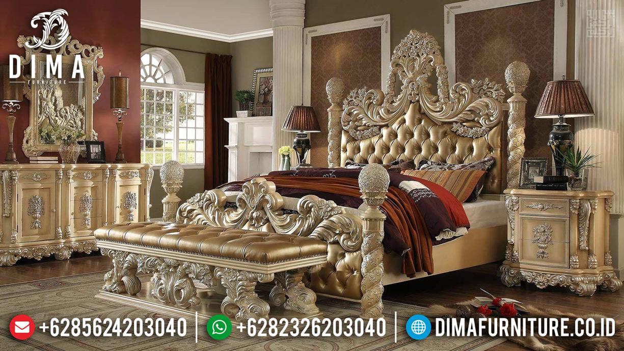 Dipan Ranjang Ukiran Queen Size Luxury Set Tempat Tidur Mewah Jepara TTJ-0623