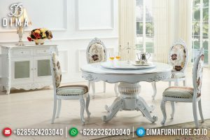 Gambar Meja Makan Bundar Furniture Jepara Termurah Dan Berkualitas TTJ-0616