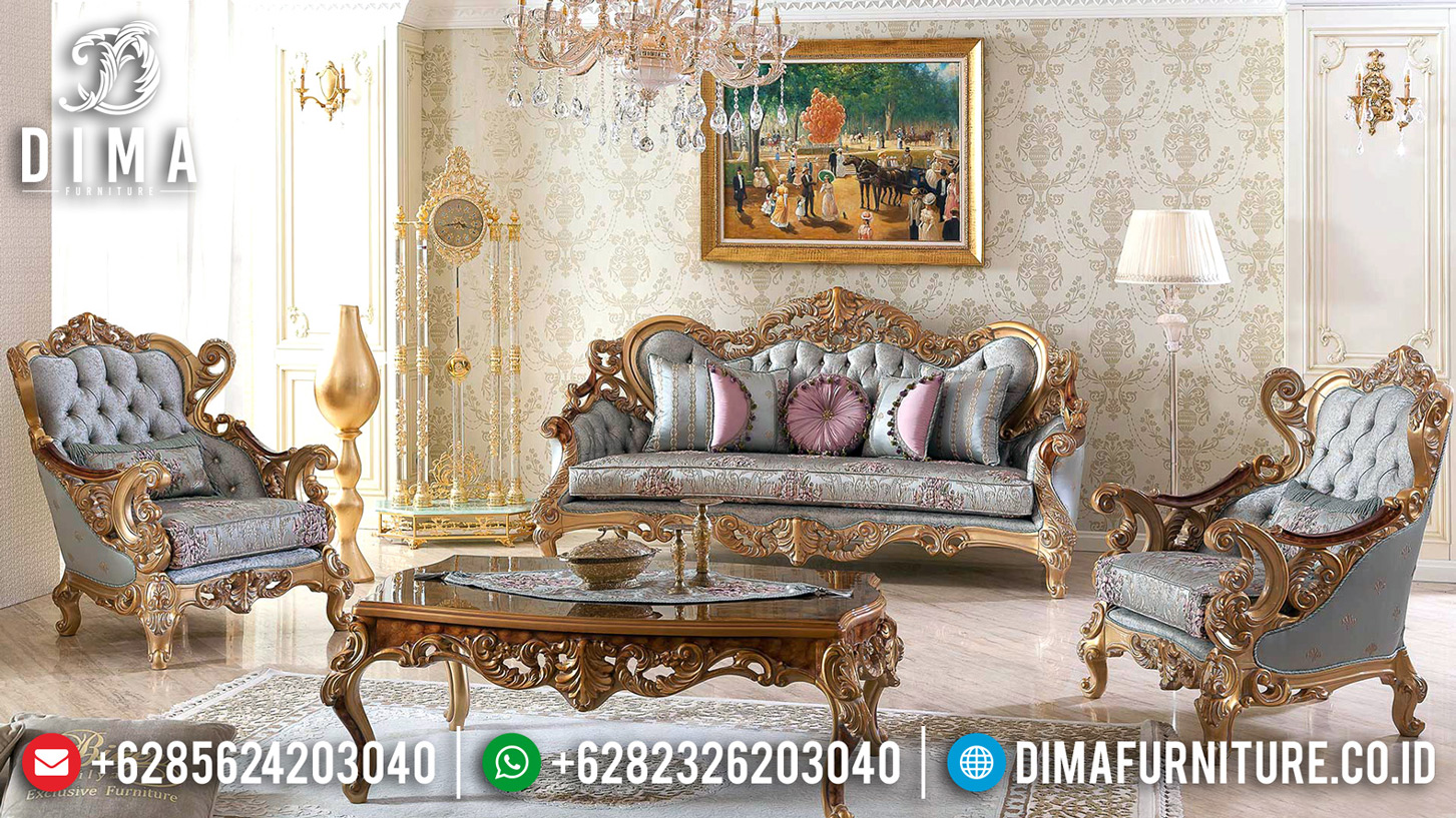 Get Sale Sofa Tamu Mewah Ukiran Luxury Classic New Design Baroque Carving TTJ-0627