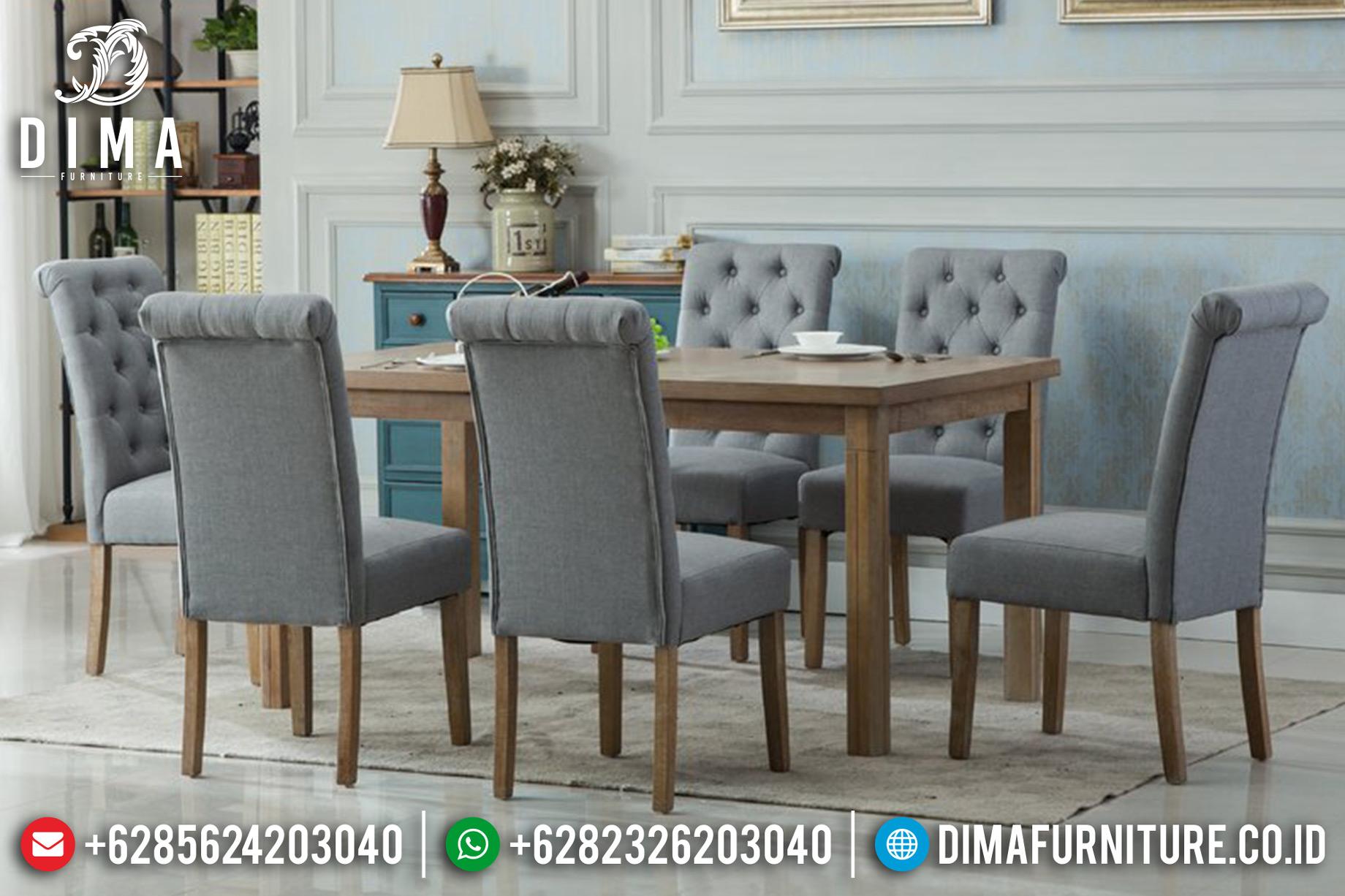 Harga Meja Makan Minimalis Jati Natural Rustic Desain Klasik Retro TTJ-0620