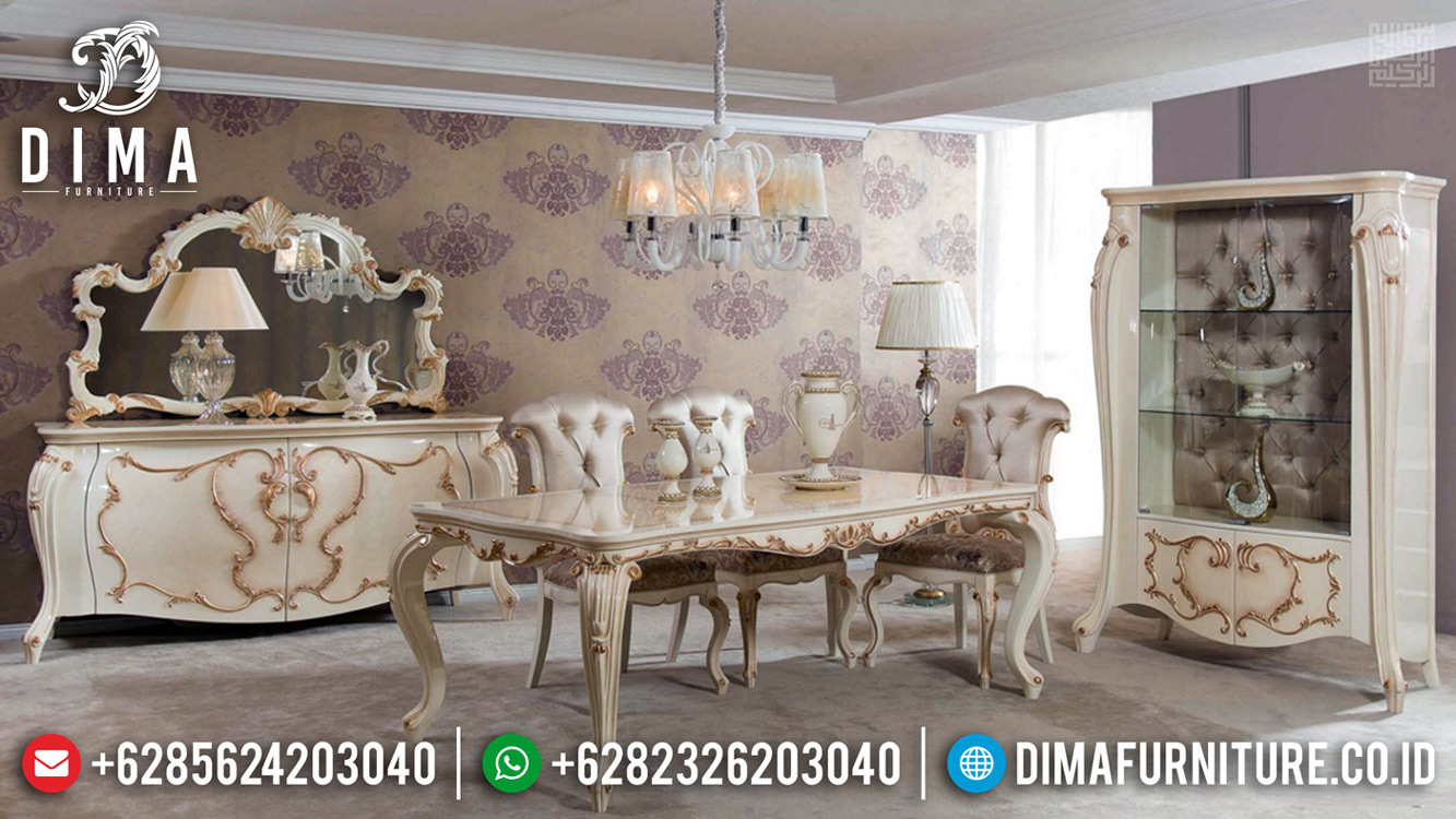 Jual Meja Makan Mewah Jepara Furniture Jepara Luxury Classic Antique TTJ-0656