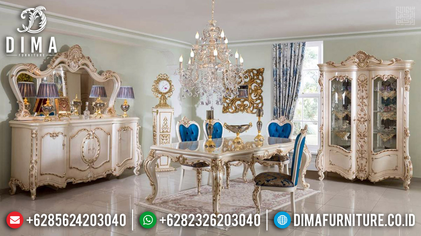 Jual Meja Makan Mewah Luxury Classic Harga Murah Special Ramadhan TTJ-0649