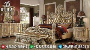 Jual Tempat Tidur Ukiran Klasik Jepara White Duco Ivory Luxurian Style TTJ-0591