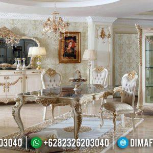 Kursi Makan Mewah Set Meja Makan Ukiran Luxury Carving Palace TTJ-0654