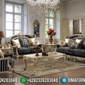 Luxury Furniture Jepara Sofa Tamu Mewah Golden Glossy Ukiran Klasik Great Quality TTJ-0636