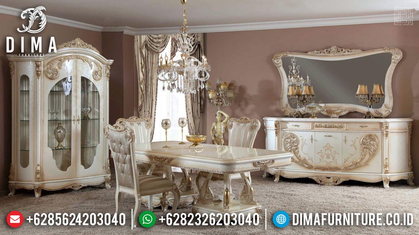 Meja Makan Jepara Mewah Dalmata Furniture Jepara Berkualitas TTJ-0659
