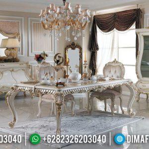 Meja Makan Mewah Jepara Ukiran Klasik Luxury Desain Interior Terbaru TTJ-0650