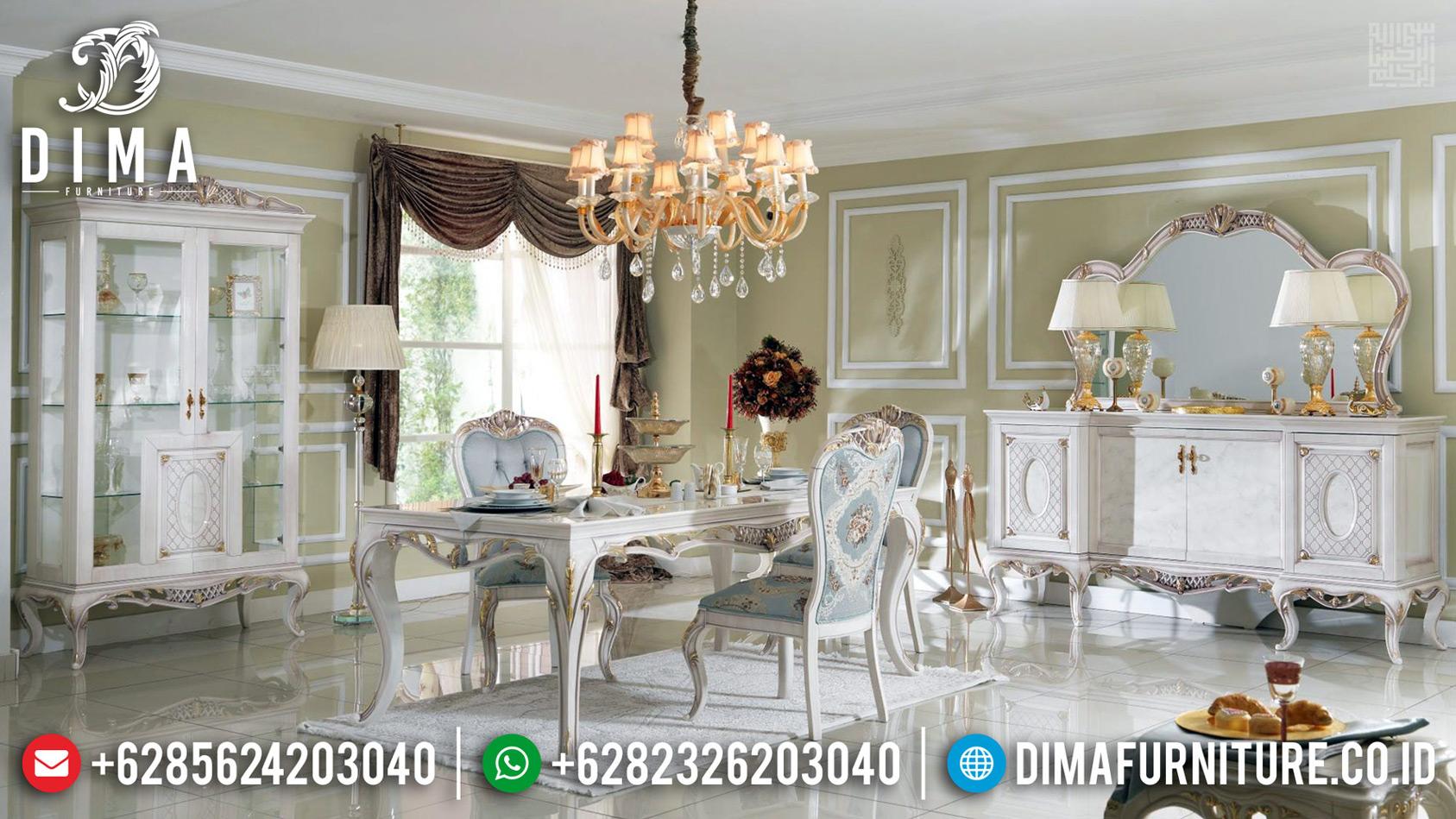 Meja Makan Mewah Vespucci Desain Interior Ruang Makan Luxury New 2020 TTJ-0660