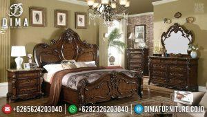 New Design Tempat Tidur Jati Natural Ukiran Jepara Best Price TTJ-0600