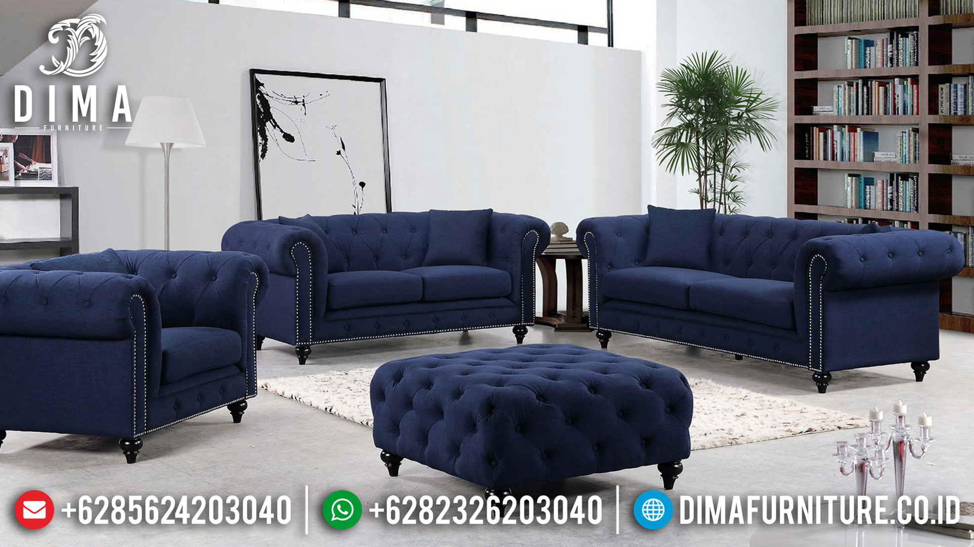New Model Sofa Tamu Modern Chesterfield Desain Interior Minimalis TTJ-0631