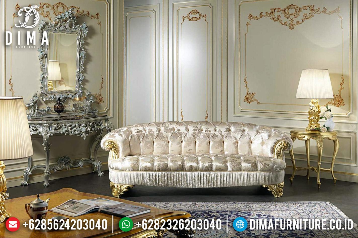 Sofa Tamu Dalmata 3 Dudukan Desain Ruang Tamu Luxury Furniture Jepara TTJ-0612