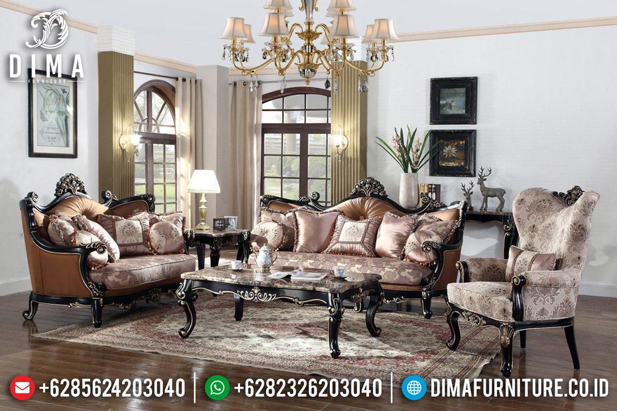 Sofa Tamu Mewah Jepara Natural Jati Luxury Classic New Style TTJ-0607