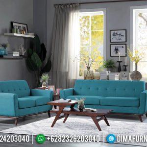 Sofa Tamu Minimalis Klasik Jati Natural Perhutani New Design Interior TTJ-0637