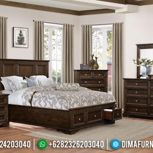 Big Discount!!! Tempat Tidur Minimalis Jati Solid Natural Dark Brown TTJ-0692