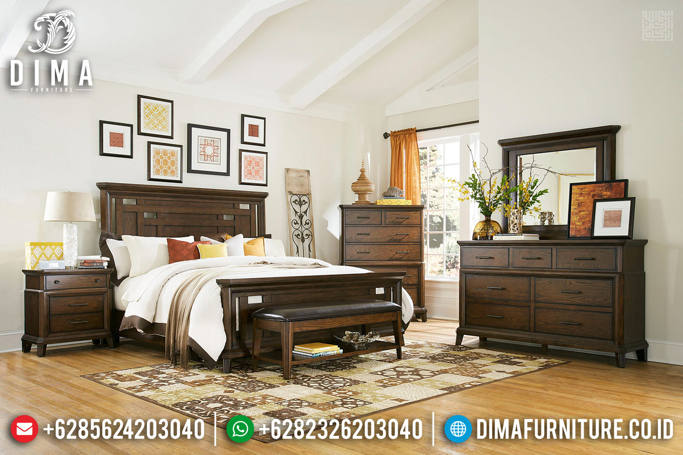 Big Sale Ramadhan Kamar Set Minimalis Jati Best Quality Natural Solid Wood TTJ-0688