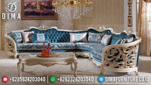 Desain Interior Ruang Tamu Set Sofa Tamu Mewah Best Quality Kayu Perhutani TTJ-0663