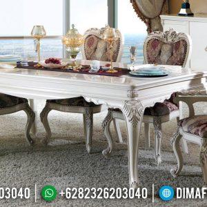 Desain Meja Makan Mewah Ukiran Klasik Jepara Super Luxury Furniture TTJ-0671