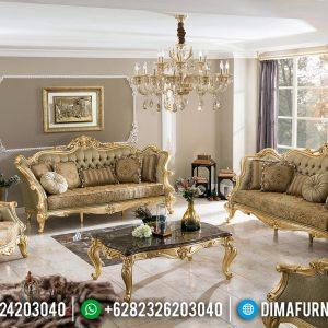Desain Sofa Tamu Mewah Jepara Empire Luxury Style Golden Glossy TTJ-0702