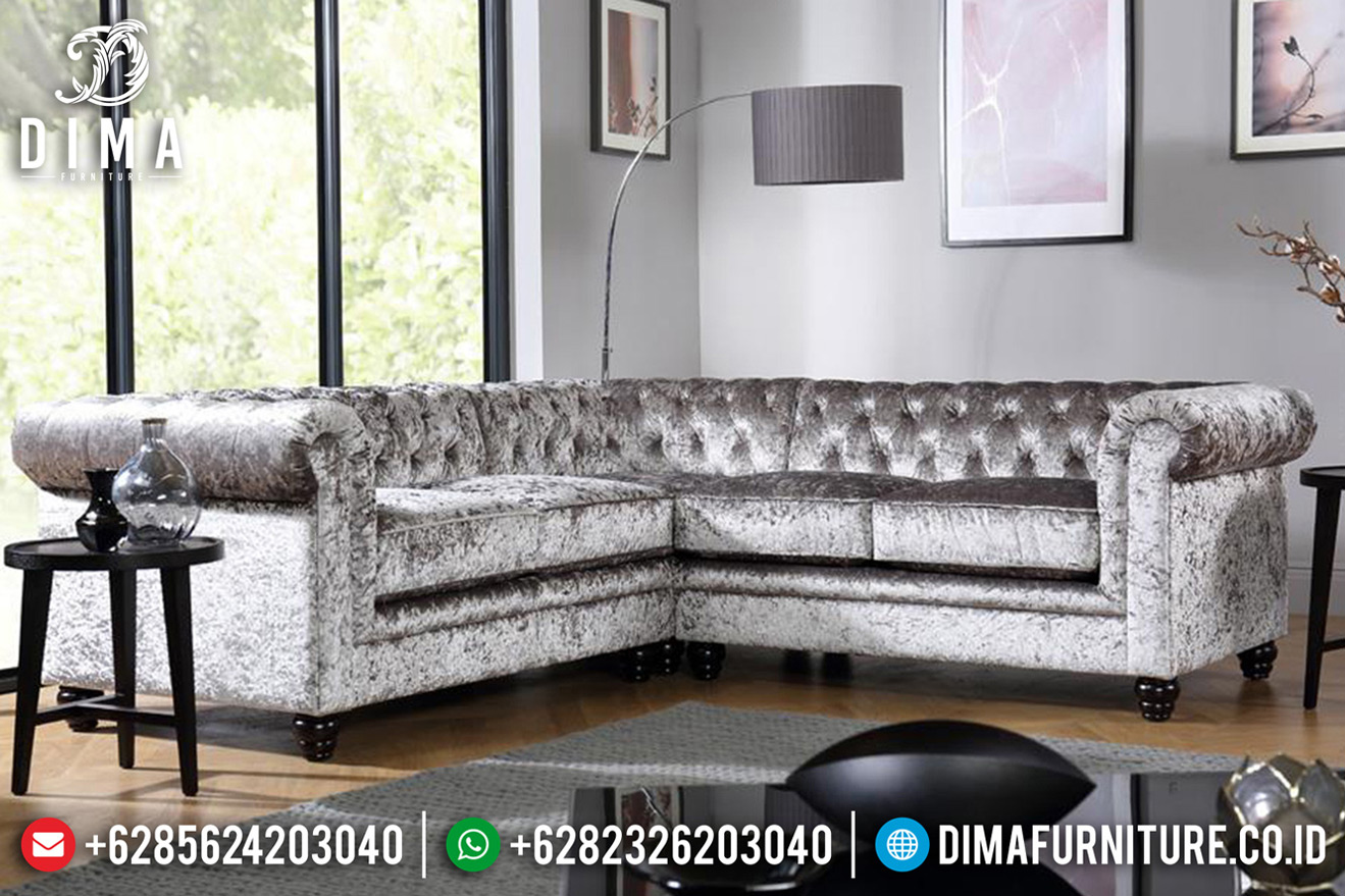 Desain Sofa Tamu Modern Minimalis New 2020 Solid Wood Natural Jati TTJ-0721