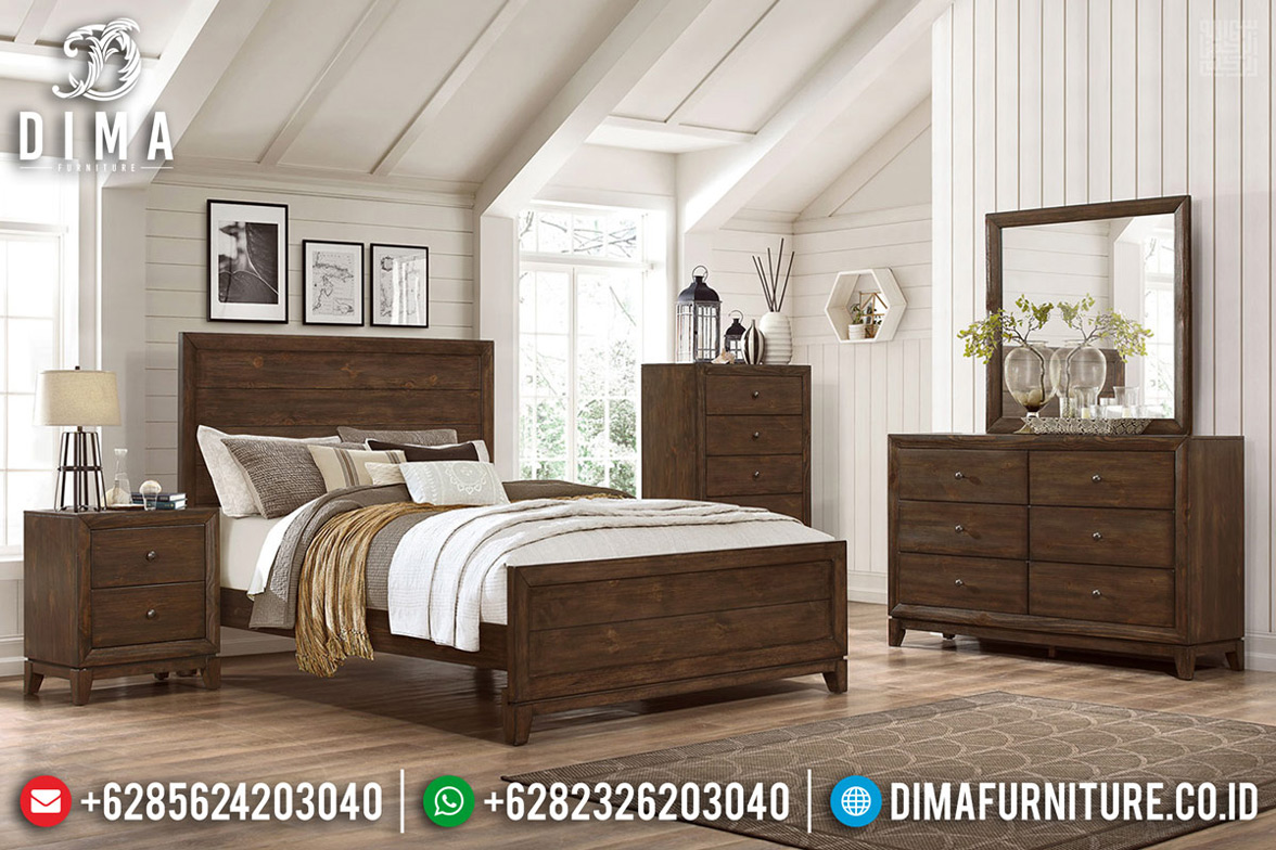 Desain Tempat Tidur Jati Minimalis Natural Auburn Furnishing TTJ-0675