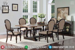 Furniture Jepara Meja Makan Jati Natural New Desain Minimalis Klasik TTJ-0746
