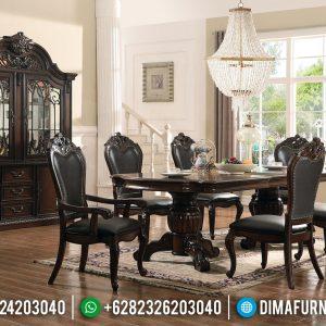 Get Discount Meja Makan Jepara Jati Natural Classic Minimalis Salak Brown TTJ-0748