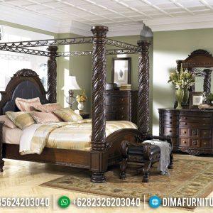 Great Wood Tempat Tidur Mewah Jati Natural Klasik Furniture Jepara Murah TTJ-0763
