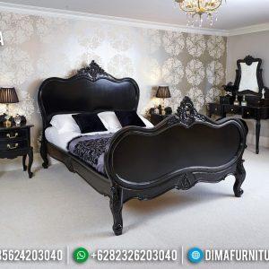 Harga Kamar Set Mewah Jepara Ukiran Klasik Luxury New Black Edition TTJ-0759