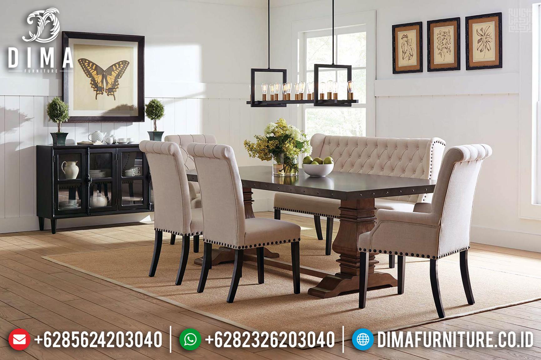 Harga Meja Makan Jati Klasik Natural Salak Brown Solid Wood Best Quality TTJ-0745