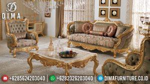 Harga Sofa Tamu Mewah Ukiran Luxury Golden Shine Color Furniture Jepara TTJ-0755