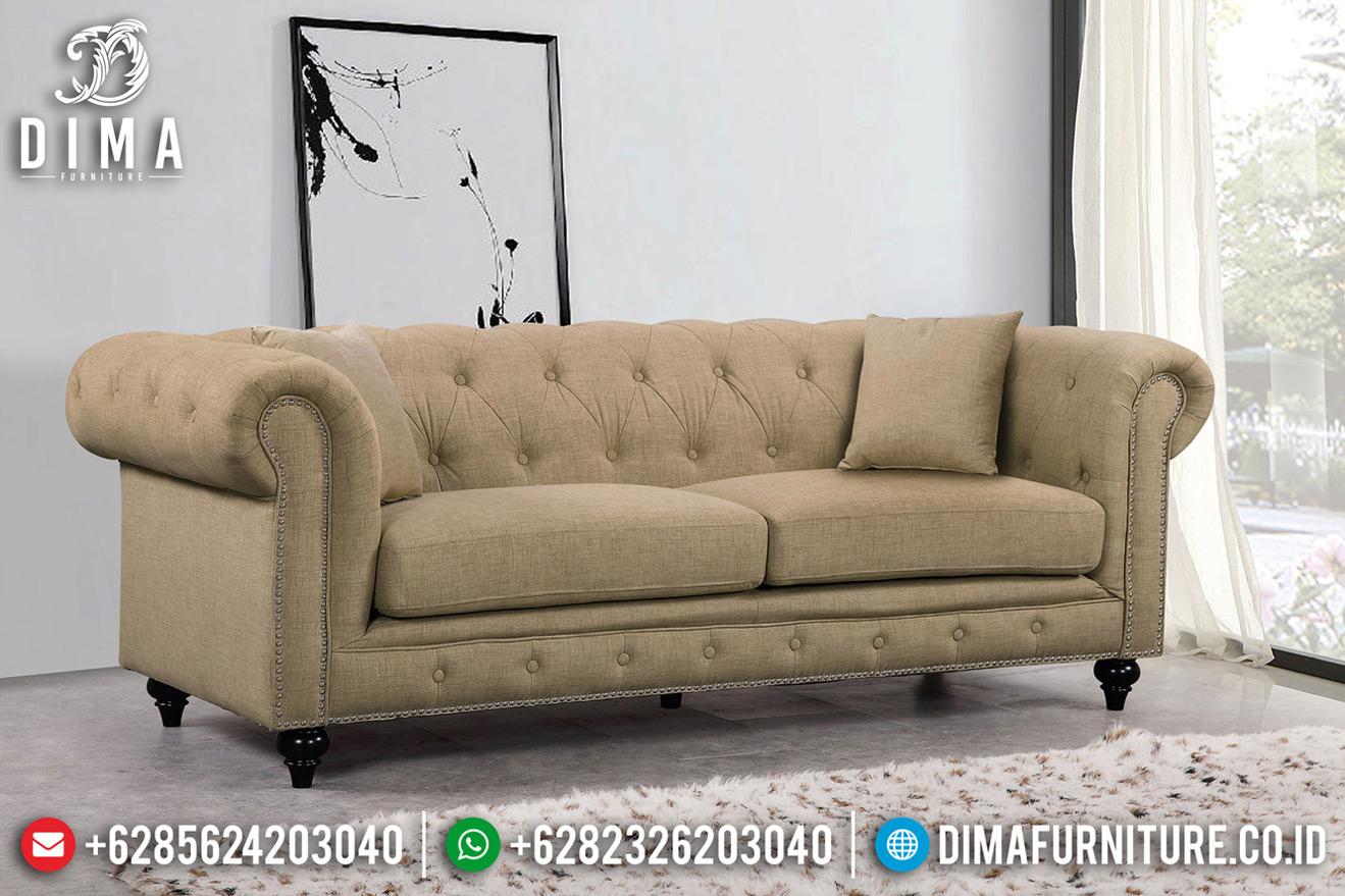 Harga Sofa Tamu Minimalis Jati Solid Natural New 2020 Furniture Jepara TTJ-0724