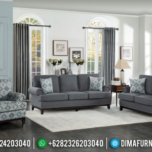 Harga Sofa Tamu Modern Jati New Design Minimalis Natural Color TTJ-0717