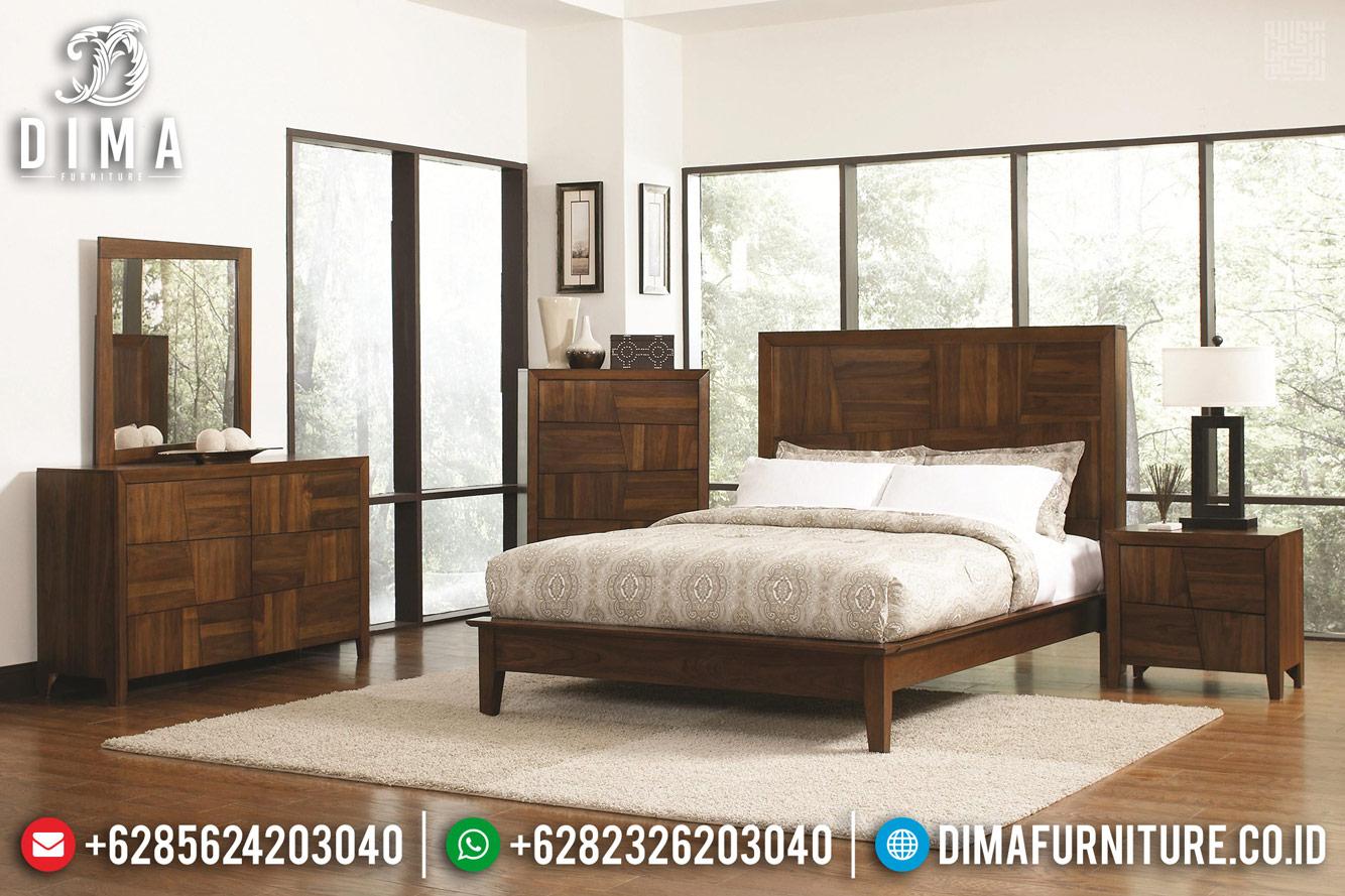 Harga Tempat Tidur Minimalis Jati New Solid Natural Rose Wood Color TTJ-0689