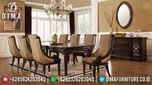 Jual Meja Makan Jati Natural Klasik New Design Luxury Harga Terjangkau TTJ-0694