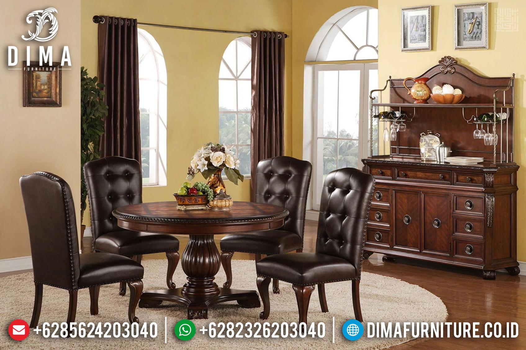 Jual Meja Makan Jepara Natural Jati Klasik New Design Minimalis TTJ-0749