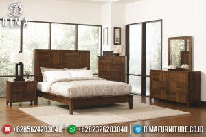 Jual Tempat Tidur Minimalis Jati Klasik Natural Salak Antique TTJ-0677
