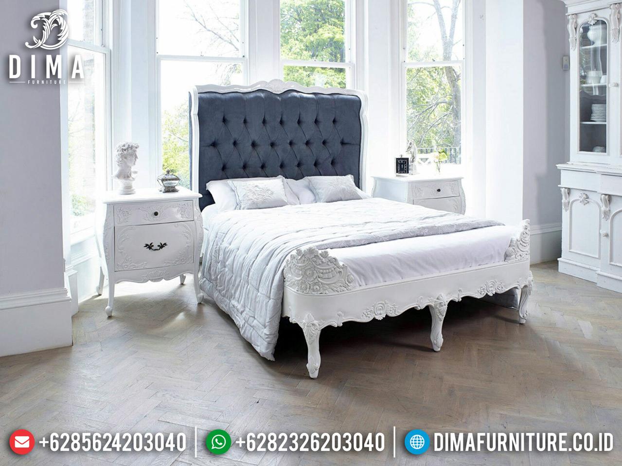 Kamar Set Mewah Ukiran Luxury Putih Duco Best Quality Furniture Jepara TTJ-0757