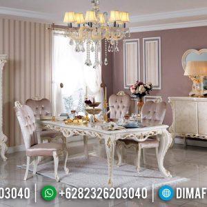 Kursi Makan Set Meja Makan Mewah Carlotta Desain Superior Luxury Klasik TTJ-0670