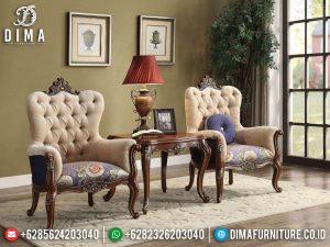 Kursi Teras Mewah Jati Natural Kayu Perhutani New Design Luxury Carving TTJ-0736